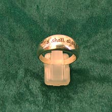 Amulets and Charms - Ring of change gold - Click here for more info
