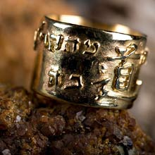 Amulets and Charms - Ring of Tao gold - Click here for more info