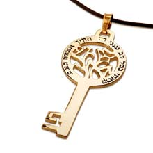 Amulets and Charms - Road talisman key gold - Click here for more info