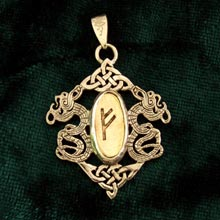 Amulets and Charms - Rune Pendant Gold - Click here for more info