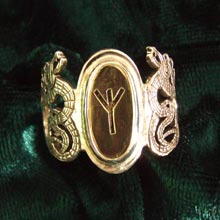 Amulets and Charms - Runes Ring Gold - Click here for more info
