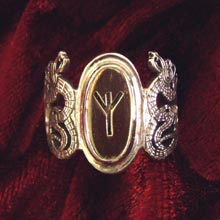 Amulets and Charms - Runes Ring Silver - Click here for more info