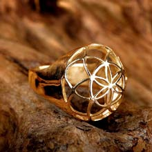 Amulets and Charms - Seed of life ring gold - Click here for more info