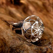 Amulets and Charms - Seed of life ring silver - Click here for more info