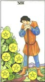 Tarot Meanings - Seven of Pentacles