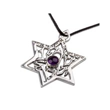 Amulets and Charms - Shema Israel star silver - Click here for more info