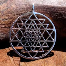 Amulets and Charms - Sri Yantra silver - Click here for more info