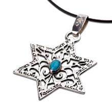 Amulets and Charms - Star of David for protection silver - Click here for more info
