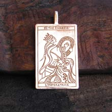 Amulets and Charms - Tarot Empress Pendant Gold - Click here for more info