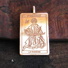 Amulets and Charms - Tarot High Priest Pendant Gold - Click here for more info