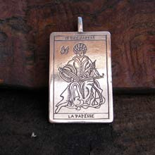 Amulets and Charms - Tarot High Priest Pendant Silver - Click here for more info