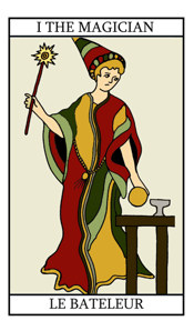 Tarot Birth Cards - The Sun, The Wheel of Fortune and The