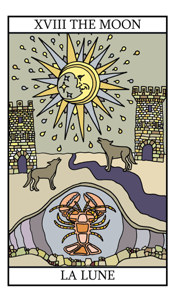 Tarot Birth Cards - The Moon and The Hermit