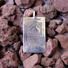Amulets and Charms - Tarot Chariot Card Pendant Silver - Click here for more info