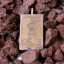 Amulets and Charms - Tarot Fool Card Pendant Silver - Click here for more info