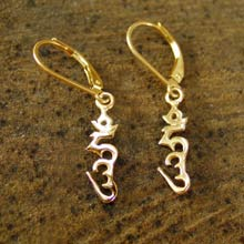 Amulets and Charms - Hung earrings gold - Click here for more info