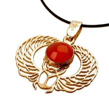 Amulets and Charms - Winged Scarab gold - Click here for more info
