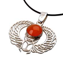 Amulets and Charms - Winged Scarab silver - Click here for more info